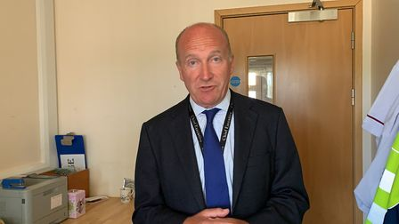 Nick Hulme, chief executive of the East Suffolk and North Essex NHS Foundation Trust. Picture: ARCH