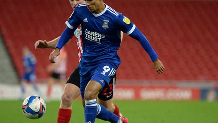 Ipswich Town striker Kayden Jackson made his first start of the season in the recent 2-1 loss at Sun