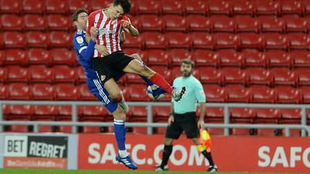 Stephen Ward is flattened by this challenge at Sunderland Picture Pagepix Ltd