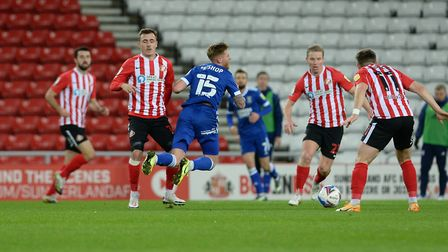 Teddy Bishop is fouled during the first half at Sunderland Picture Pagepix Ltd