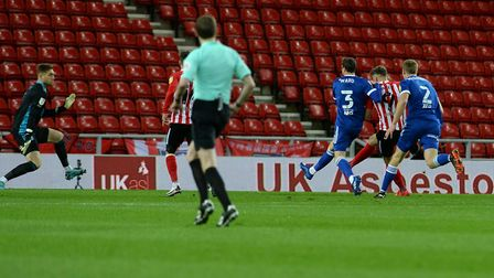 The home side takes the lead against Ipswich at Sunderland Picture Pagepix Ltd