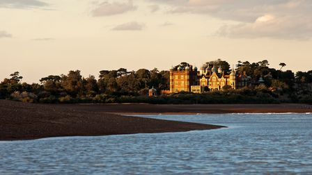 If you're planning on having a sit down at Felixstowe Ferry, you'll be able to spot Bawdsey Manor ac