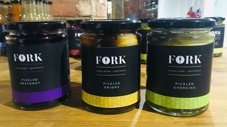 Fork branded pickles at Fork Deli & Kitchen in Hadleigh which opened on November 4, 2020 Picture: C