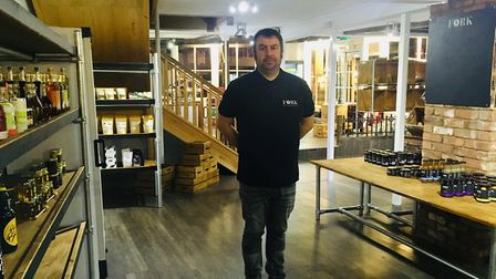 Justin Kett and wife Kairi took have opened a deli and food shop in Hadleigh, Suffolk Picture: Char