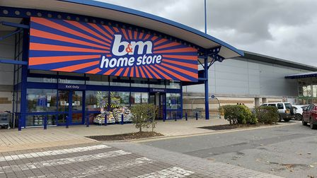 B & M in Anglia Retail Park, Ipswich, will remain open during the second lockdown Picture: SARAH LUCY BROWN