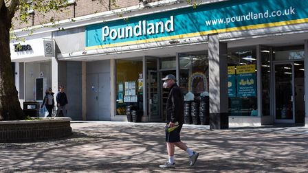 Poundland in Bury St Edmunds will be open during lockdown Picture: SARAH LUCY BROWN