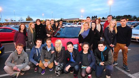 Friends and fellow car enthusiasts meet up for the special meeting to remember Aaron Amis and think