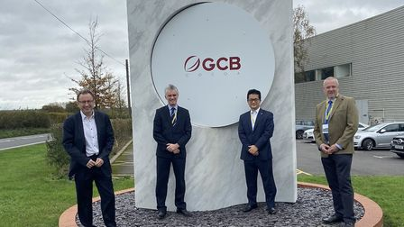 GCB Cocoa have officially taken over the former Philips Avent factory in Glemsford. Pictured (left to right): Chris...