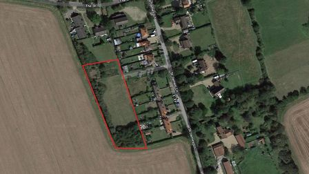 Land in St James South Elmham which has transferred from East Suffolk Council responsibility to the
