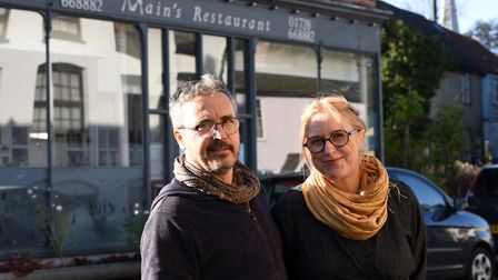 Nancy Main and Jason Vincent, owners of Main's Resturant in Yoxford, are continuing their meals at home service Picture...