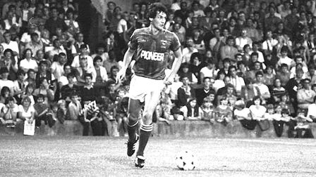 George Burley pictured during the early 1980s. He was part of the Town defence that stood firm away