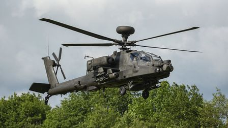 """An Apache helicopter """"accidentally opened fire"""" at Wattisham Airbase in Suffolk. Picture: SARAH LUC"""