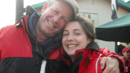 Averil Hart with her father Nic Picture: SUPPLIED BY FAMILY