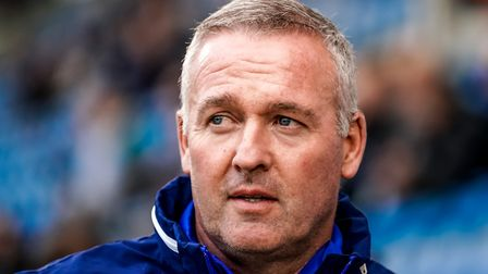 Ipswich Town manager Paul Lambert will lead his side against Portsmouth today. Picture: STEVE WALLER
