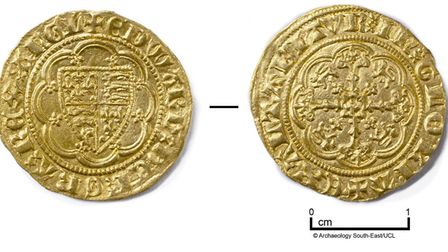 A coin found during the excavation. Picture: Antonio Reis