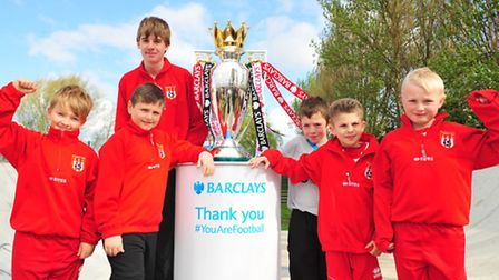 The Barclays Premier League Trophy visits South Town, Yarmouth.Shrublands Youth FC.
