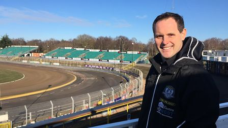 Chris Louis, with the Foxhall track behind him: CONTRIBUTED