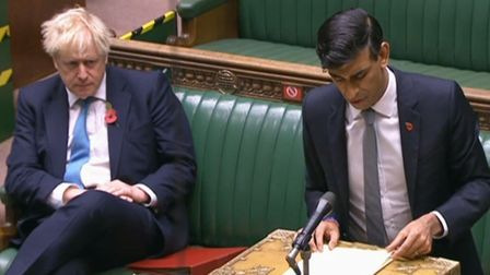 Chancellor of the Exchequer Rishi Sunak giving a statement to MPs in the House of Commons on econom