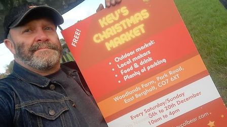 Kev's Christmas Market will showcase local makers in East Bergholt this December. Picture: KEV COLBE