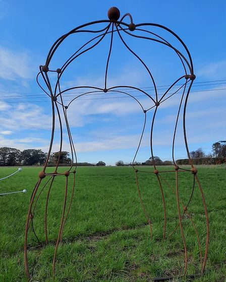 Kev Colbear's metal work will be showcased at Kev's Christmas Market in East Bergholt. Picture: KEV
