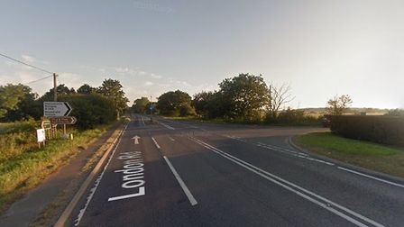 The A12 is currently blocked near Halesworth Picture: GOOGLE MAPS