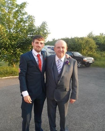 Jeff with his son Ben Hollis. Picture: Courtesy of the family