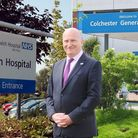 Ipswich and Colchester Hospitals with Nick Hulme chief executive of East Suffolk and North Essex Fou