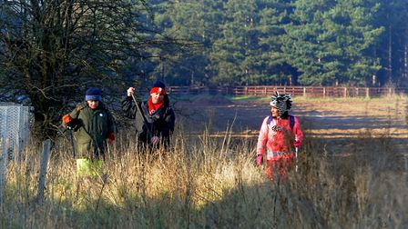 Around 140 volunteers turned out to search roads near the A11 Picture: ANDY ABBOTT