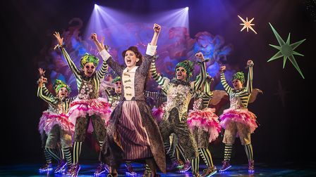 Nerine Skinner and ensemble in Cinderella, Colchester Mercury's panto which is being live streamed i
