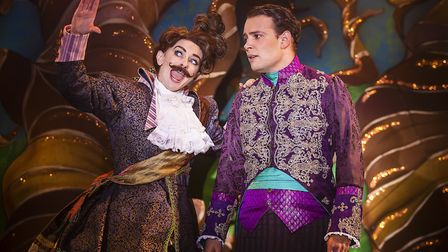 Nerine Skinner and Jack Reitman in the Colchester Mercury's Cinderella which is being live streamed