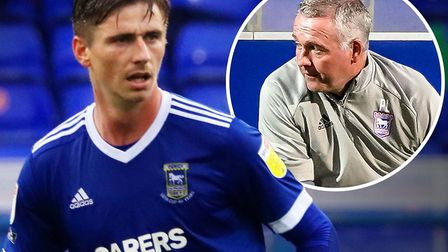 Paul Lambert has been impressed with Oli Hawkins' start to life at Ipswich Town. Picture: ROSS HALLS
