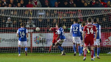 Billy Kee scores the winner for Accrington Stanley against Ipswich Town in 2018/19. Picture: Pagepix