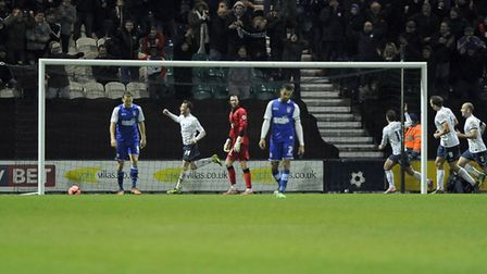 Joe Garner bagged a hat-trick for Preston to knock Ipswich Town out of the FA Cup in 2014. Photo: Pa
