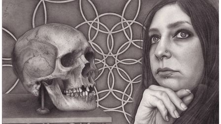 A piece from Jo Graham's Mortality series showing the artist herself Picture: LITTLE JO ART