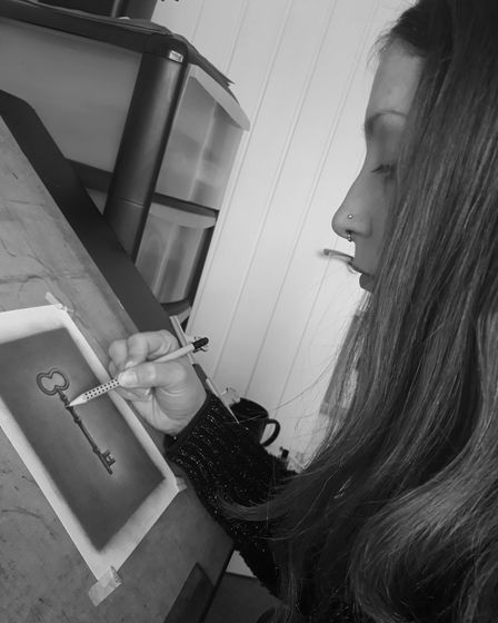 Bury St Edmunds artist Jo Graham with her latest series of pencil drawings called Keys to life (from the mind of an Artist ...