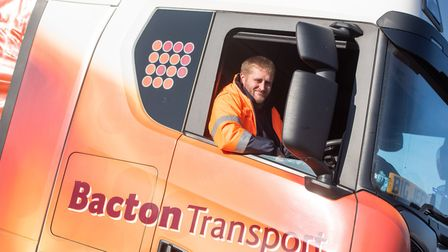 Lorry driver Tom Warner helped a distressed man on the A14. Picture: SARAH LUCY BROWN