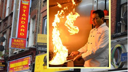 What attracts most tourists to Brick Lane... the 'Curry Mile'. Picture: Mike Brooke