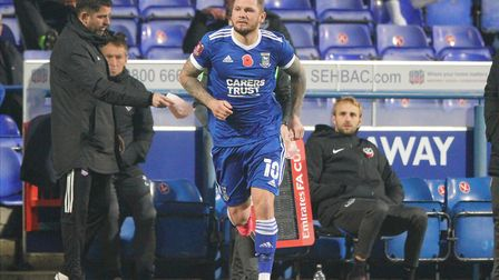 James Norwood makes a second half appearance as a substitute.Picture: Steve Wallerwww.s