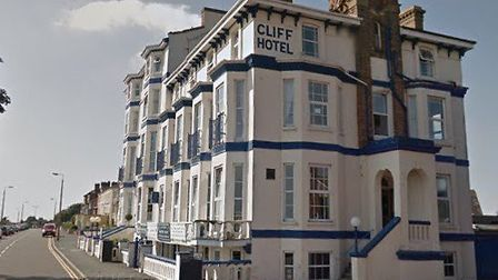 In its heyday, the Cliff Hotel in Dovercourt was an iconic site overlooking the North Sea Picture: G