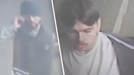 CCTV of men police want to speak to in connection with a serious assault in Colchester on October 15