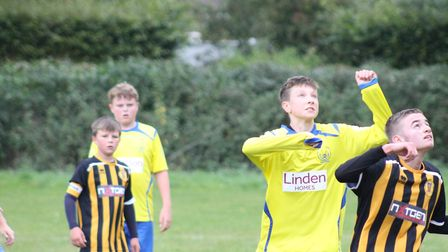 Linden Homes has given Stowupland Falcons a £500 grant to pay for new match kit for the club's under