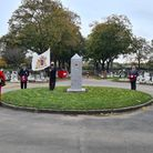 Dignitaries mark Remembrance Day at Eastbrook Cemetery. Picture: LBBD