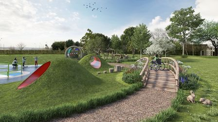 How the new playground will look at Thomas Wolse Ormiston Academy Picture: RICHARD WILKINSON
