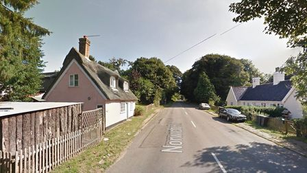 A firework was launched at a property in Barham, smashing through its front window. Picture: GOOGLE MAPS