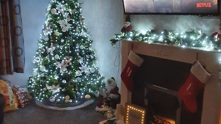 Hayley Brooks has made the whole room look festive in November Picture: HAYLEY BROOKS