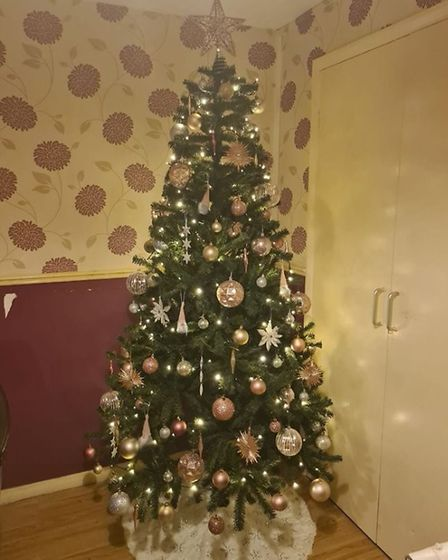 Claire Rowe has decorated this tree in lockdown Picture: CLAIRE ROWE