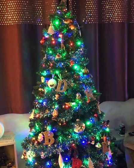 Kerrie Rosser got in the festive mood by putting up her Christmas tree. Picture: KERRIE ROSSER