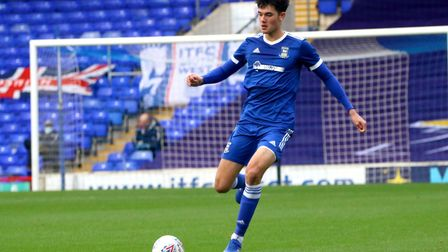Elkan Baggott in action against Southend United in the FA Youth Cup Picture: Ross Halls