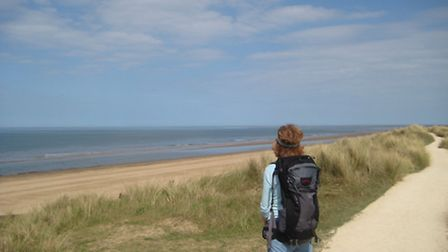 Sand and sky on the North Norfolk Coast Path