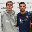 Aidan Elmore with Essex Cricket's Feroze Khushi. Picture: Youth Sport Trust